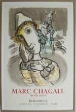 Marc Chagall Le cirque au clown jaune - klik for at l�se mere
