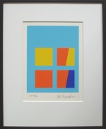 Ib Geertsen Gul-orange-blå, Serigrafi 1996 - klik for at l�se mere