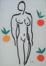 Henri Matisse Nude with Oranges, 1951 - klik for at l�se mere